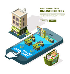 concept of online shopping buying vector image