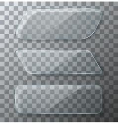 modern transparent glass plates set vector image vector image