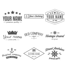 Retro Vintage Insignias logo or Logotype set vector image