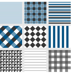 seamless pattern with square navy blue tartan vector image