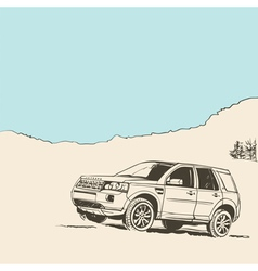 SUV car vector image