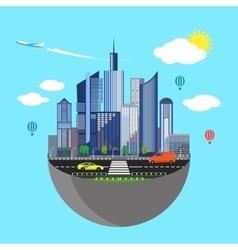 Urban earth concept vector image