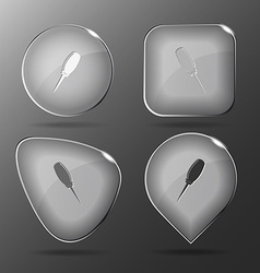 Awl Glass buttons vector image