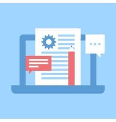 blog management vector image vector image