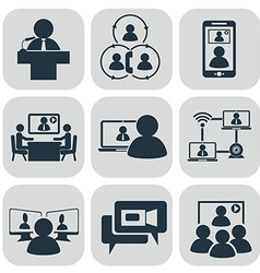 Business communication Video conference vector image