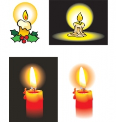 collection of burning candles vector image vector image