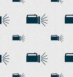 flashlight icon sign Seamless pattern with vector image