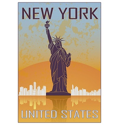 New York vintage poster vector image