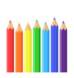 rainbow of colored pencils vector image vector image