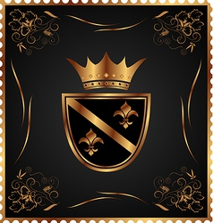 vintage post mark with heraldic elements - vector image vector image