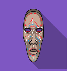 african mask icon in flat style isolated on white vector image vector image