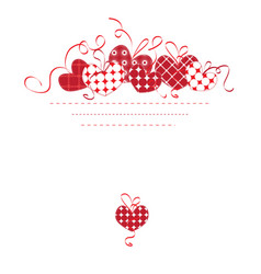 background with heartss vector image vector image