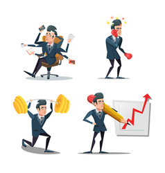 businessman at work business planning vector image vector image