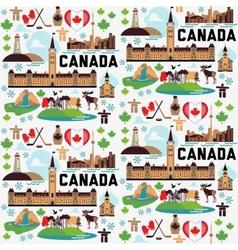 Canada pattern vector image vector image