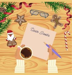 christmas celebration with hot coffee vector image vector image