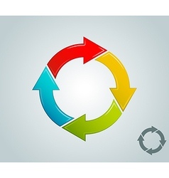 different colors arrow infographics cycle vector image