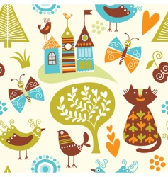 fairytale pattern vector image vector image