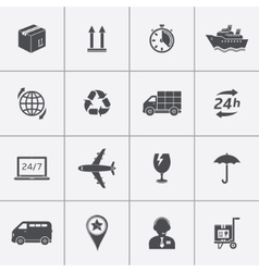 Icons set shipping and delivery vector image vector image