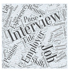 Preparing for a job interview a life changing vector