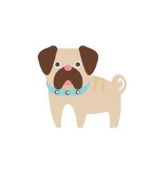 Pug Dog Breed Primitive Cartoon vector image vector image