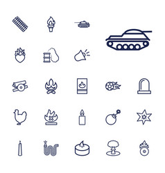 22 fire icons vector
