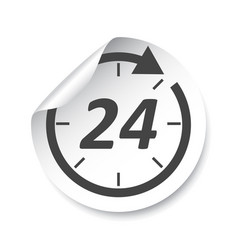 24 hours sticker label vector image