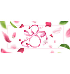 8 march eight silk ribbon number vector image