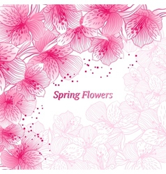 Abstract gradient seamless flower background vector