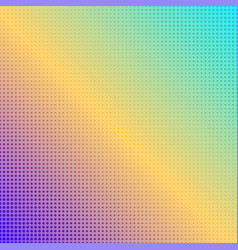 abstract square rainbow dotted background vector image