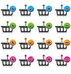 Add delete shopping basket item vector