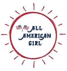 All American girl vector image