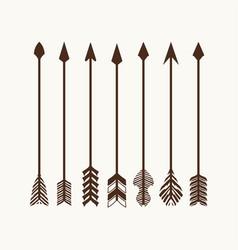 arrows set for logo vector image