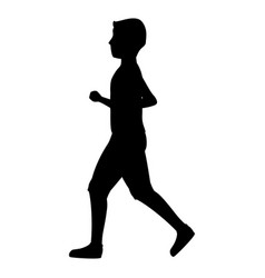 Athletic man running character icon vector