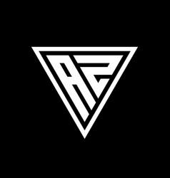 Az logo monogram with triangle shape designs vector