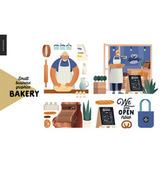 bakery - small business graphics - set vector image