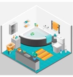 Bathroom Interior Isometric vector image