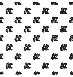broccoli pattern seamless vector image