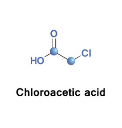 Chloroacetic acid molecule vector