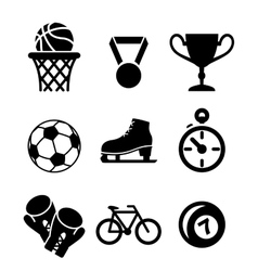 Collection of sports icons vector