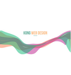 Colorful header website abstract design vector