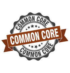 Common core stamp sign seal vector