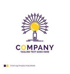 Company name logo design for data information vector