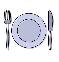 crockery vector image