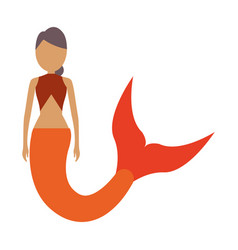 cute mermaid icon image vector image
