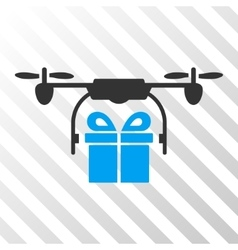 Drone Gift Delivery Eps Icon vector