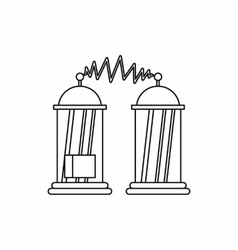 Electrical impulses icon outline style vector