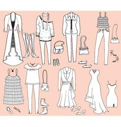 Fashion accessories vector