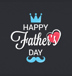 fathers day logo background vector image