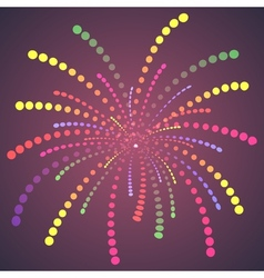 Firework colorful one dots vector