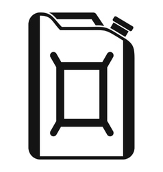 Flask for gasoline icon simple style vector